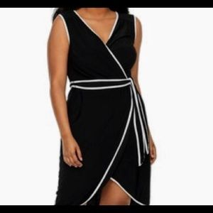 325ce67859b Juniors  Plus Size Wrapper Contrast Trim Dress. NWT